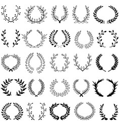 set of 25 wreaths vector image