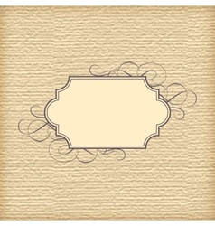 Textured Background and Vintage Frame vector image vector image