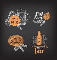 Beer restaurant cafe badges drink template design vector image vector image