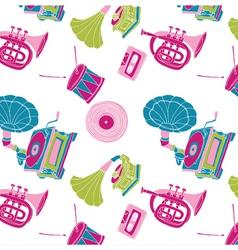music wallpaper vector image vector image