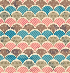 retro seamless pattern with grunge effect vector image