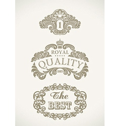 Victorian styled labels vector