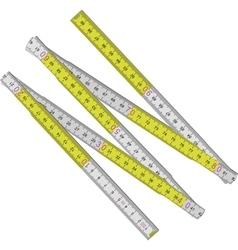 Wooden measure vector image