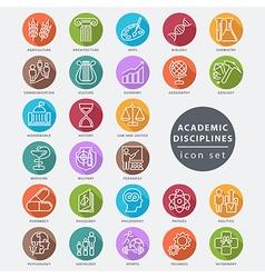 Academic disciplines icon vector image vector image