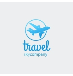 Airplane or travel logo vector image vector image