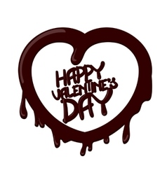 Chocolate happy valentines day card vector