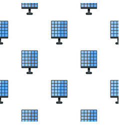 Electric solar panel pattern seamless vector