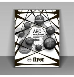 modern pattern booklet for information vector image vector image
