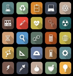 Science flat icons with long shadow vector image vector image