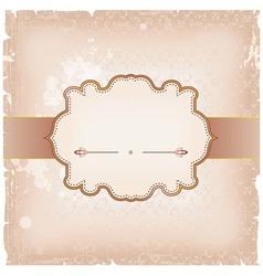 Vintage frame background vector image vector image