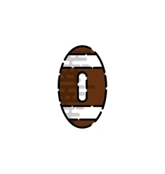 American football flat icon vector image