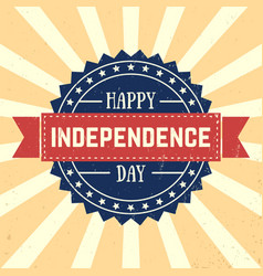 american independence day 4th of july vector image