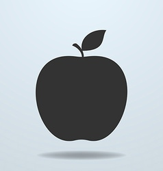 Apple with leave icon vector image vector image