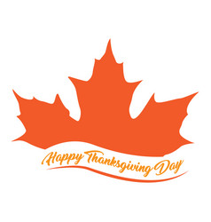 autumn leaf and text thanksgiving day vector image