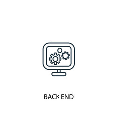 Back end concept line icon simple element vector