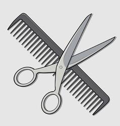 Barber Scissor and Comb vector