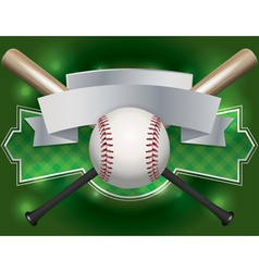 baseball bat label vector image