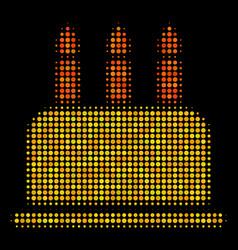 birthday cake halftone icon vector image