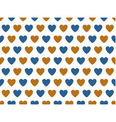 blue and gold heart shape pattern vector image
