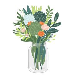 Bouquet flowers vector