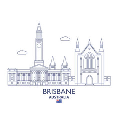 brisbane city skyline vector image