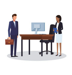 business teamwork avatar vector image
