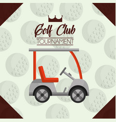 car golf club tournament ball background vector image