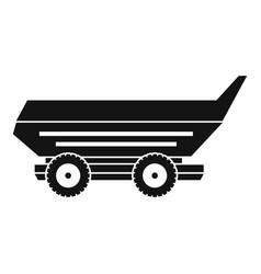 Car trailer icon simple vector