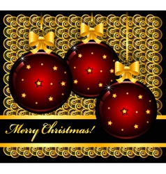 Christmas card with balls vector image