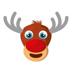christmas reindeer character isolated icon vector image