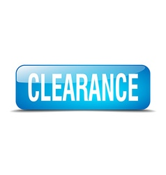 clearance blue square 3d realistic isolated web vector image