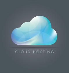 cloud hosting vector image