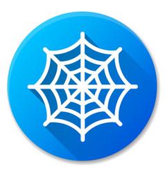Cobweb blue circle icon design vector