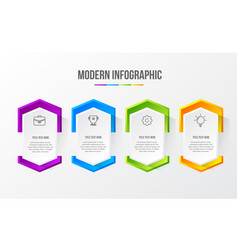 color modern infographic with 3d table vector image