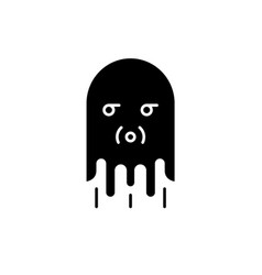 computer monster black icon sign on vector image