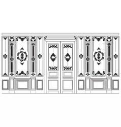 Damask Ornamented frames for walls vector image