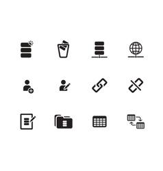 Database icons on white background vector