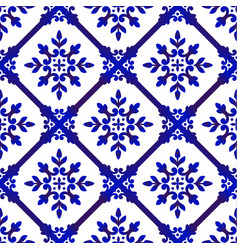 Decorative floral blue pattern vector
