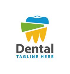 dental health modern logo vector image