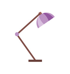 desk lamp light furniture electric icon vector image