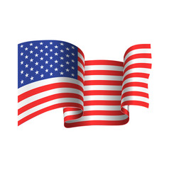 developing in wind american flag vector image
