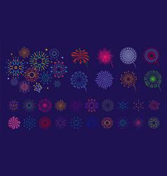 firework collection color fireworks festive vector image