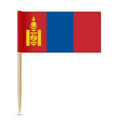 Flag of mongolia flag toothpick vector