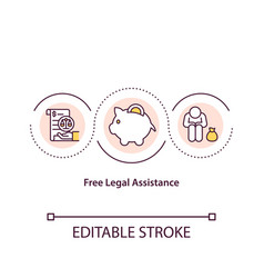 Free legal assistance concept icon vector