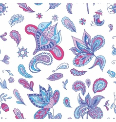 Fresh Indian Paisley Pattern vector image