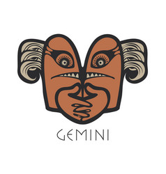 Gemini astrological sign of zodiac vector