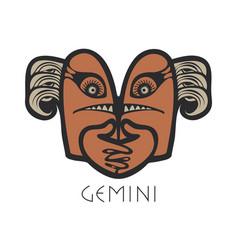 gemini astrological sign zodiac vector image