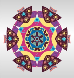 geometric pattern Colorful mandala vector image