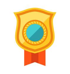Gold shield award for sports vector