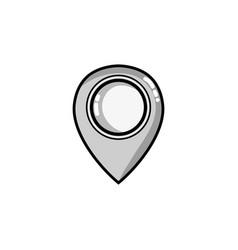 Grayscale location symbol to destination travel vector